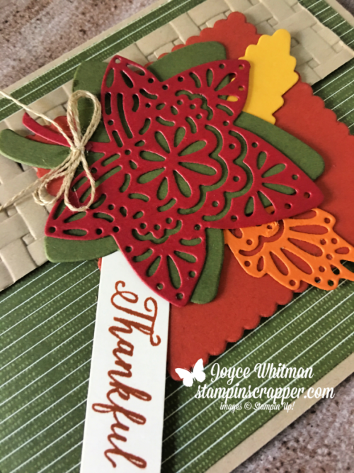 Stampin Up, Stampin' Up! Falling For Leaves Bundle #149938, Festive Farmhouse designer series paper #147820, created by Stampin Scrapper, for more card, gifts, ideas, scrapbooking and 3D projects go to stampinscrapper.com, Joyce Whitman
