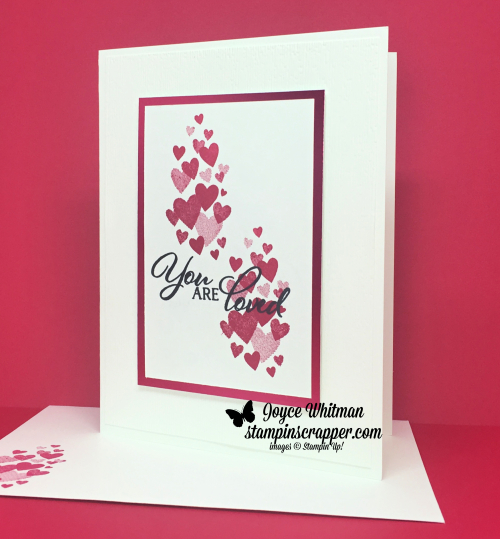 Stampin Up, Stampin' Up! Forever Lovely stamp set #148576, Lovely Lipstick Foil Sheets #149712, Sale-A-Bration, Sale-A-Bration 2019, Occasions, Occasions 2019, created by Stampin Scrapper, for more cards, gifts, ideas, scrapbooking and 3D projects, go to stampinscrapper.com, Joyce Whitman