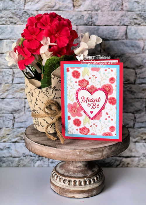 Stampin Up, Stampin' Up! Meant To Be stamp set #148626, Be Mine Stitched Framelits #148527, Meant To Be bundle #150587, All My Love designer series paper #148576, created by Stampin Scrapper, for more cards, gifts, ideas, scrapbooking and 3D projects, go to stampinscrapper.com, Joyce Whitman