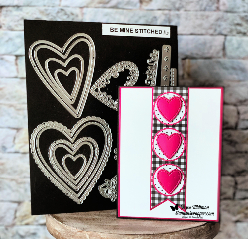 Stampin Up, Stampin' Up! Be Mine Stitched Framelits #148527, Botanical Butterfly designer series paper #149622,Lovely Lipstick Foil Sheets #249712, created by Stampin Scrapper, for more cards, gifts, ideas, scrapbooking and 3d projects go to stampinscrapper.com, Joyce Whitman