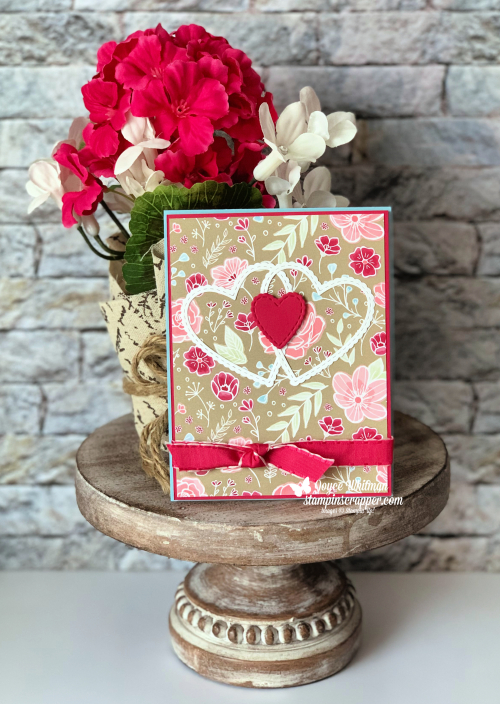 Stampin Up, Stampin' Up! Be Mine Stitched Framelites #148527, All My Love designer series paper #148576, All My Love Ribbon Combo Pack #148584, created by Stampin Scrapper, for more cards, gifts, ideas, scrapbooking and 3D projects go to stampinscrapper.com, Joyce Whitman