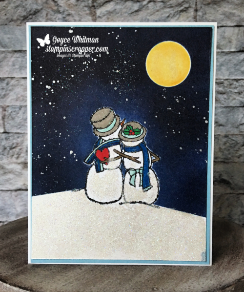 Stampin Up, Stampin' Up!, Spirited Snowmen stamp set #148072, Frost White Shimmer paint #147046, Dazzling Diamonds #133751, created by Stampin Scrapper, for more cards, gifts, ideas, scrapbooking and 3D projects go to stampinscrapper.com