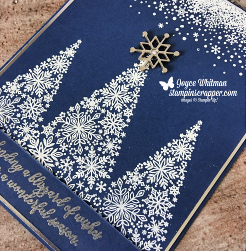 Stampin Up, Stampin' Up! Snow is Glistening stamp set #149742, Snowflake Trinkets #149620, created by Stampin Scrapper, for more cards, gifts, ideas, scrapbooking and 3D projects go to stampinscrapper.com, Joyce Whitman
