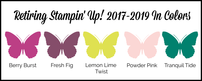 Stampin Up 2017-2019 In Colors