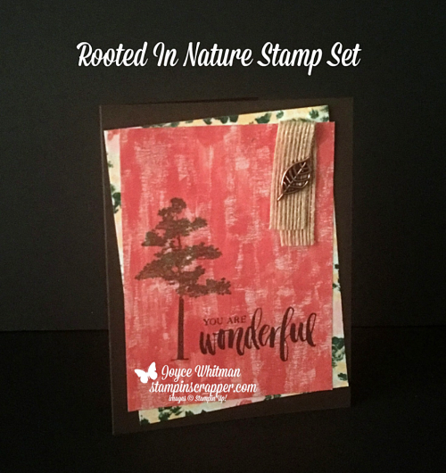 Stampin Up, Stampin' Up! Lovely As A Tree, Rooted In Nature, created by Stampin Scrapper, for more cards, gifts, ideas, scrapbooking and 3D projects and more go to stampinscrapper.com, Joyce Whitman