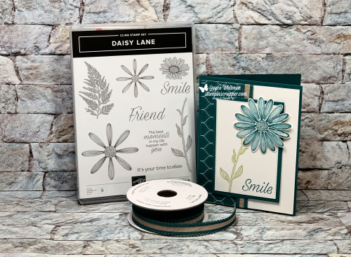 """Stampin Up, Stampin' Up! Daisy Lane stamp set, Daisy Punch, Stitched Rectangle Dies, 1/2"""" Circle Punch, created by Stampin Scrapper, for more cards, gifts, ideas, scrapbooking and 3D projects go to Stampinscrapper.com, Joyce Whitman"""