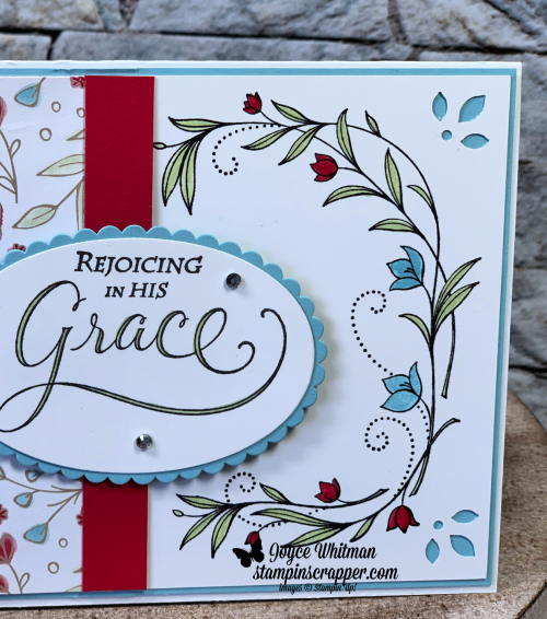 Stampin Up, Stampin' Up! His Grace stamp set #148676, Subtles Stampin' Write Markers #147156, In Color Stampin Write Markers #147159, Layering Oval Framelits #141706, created by Stampin Scrapper, for more cards, gifts, ideas, scrapbooking, 3D projects go to stampinscrapper.com, Joyce Whitman