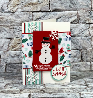 Stampin Up, Stampin' Up!, Snowman Season stamp set, Let It Snow Specialty Designer Series Paper, Frosted Frames Dies, created by Stampin Scrapper, for more cards, gifts, ideas, scrapbooking and 3D projects go to stampinscrapper.com, Joyce Whitman, What's New at SU blog hop