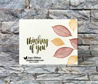 Stampin Up, Stampin' Up!, Rooted In Nature, Fall Card, Simple Stamping, created by Stampin Scrapper, for more cards, gifts, ideas, scrapbooking and 3D projects go to stampinscrapper.com, Joyce Whitman