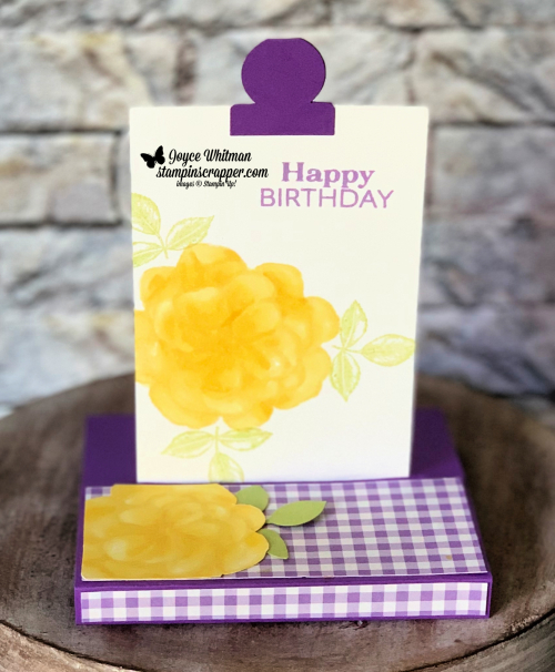 Stampin Up, Stampin' Up!, Sliding Pop Up card, April 2019 Paper Pumpkin, created by Stampin Scrapper, for more cards, gifts, ideas, scrapbooking and 3D projects, go to stampinsscrapper.com, Joyce Whitman