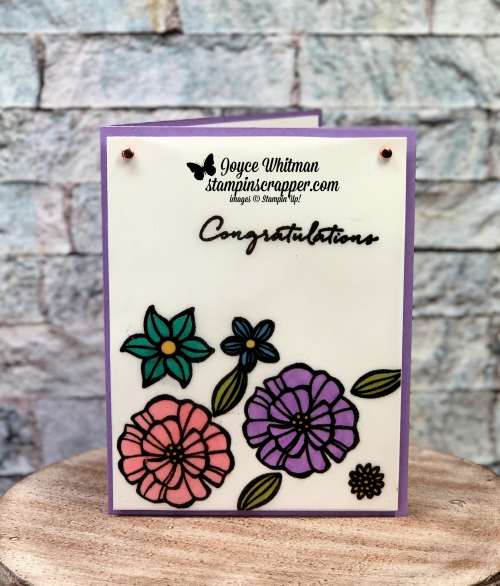Stampin Up, Stampin' Up!, Fun With Vellum, Falling Flowers stamp set, Lovely Floral Embossing Folder, Lemon Zest stamp set, Embossing Powder, Vellum, Stampin' Blends, Blends, Stampin Blends, Coloring, Watercoloring, created by Stampin Scrapper, for more cards, gifts, ideas, scrapbooking and 3D projects go to stampinscrapper.com, Joyce Whitman