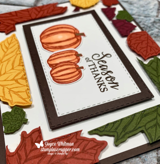 Stampin Up, Stampin' Up!, Gather Together, Gathered Leaves dies, Stitched Rectangle Dies, Floating Frame, created by Stampin Scrapper, for more cards, gifts, ideas, scrapbooking and 3D projects go to stampinscrapper.com, Joyce Whitman