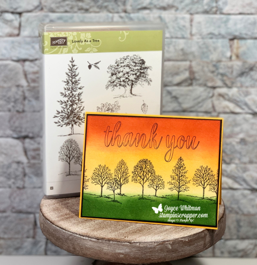 Stampin Up, Stampin' Up! Lovely As A Tree, 2018-2019 Annual Catalog, Calligraphy Essentials, Sponging, Facebook Live, created by Stampin Scrapper, for more cards, gifts, ideas, scrapbooking and 3D projects go to stampinscrapper.com, Joyce Whitman