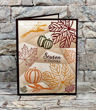 Stampin Up, Stampin' Up!, Gather Together, To Every Season, Colorful Seasons, Retiform Technique, Facebook Live, Paper Crafting, Cards, created by Stampin Scrapper, for more cards, gifts, ideas, scrapbooking and 3D projects go to stampinscrapper.com, Joyce Whitman