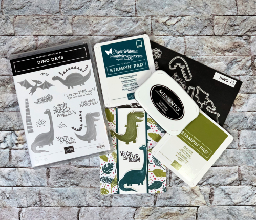 Stampin Up, Stampin' Up! Dino Days stamp set, Dino dies, Dinoroar designer series paper, created by Stampin Scrapper, for more cards, gifts, ideas, scrapbooking and 3D projects, go to stampinscrapper.com, Joyce Whitman, birthday, kids cards, dinosaurs,