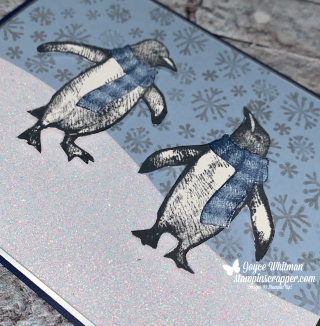 Stampin Up, Stampin' Up!, Playful Penguins, Snowman Season, Anniversary, Penguins, Paper Crafting, Stamping, Handmade, Created by Stampin Scrapper, for more cards, gifts, ideas, scrapbooking and 3D projects go to stampinscrapper.com, Joyce Whitman