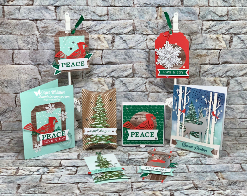 Stampin Up, Stampin' Up!, November 2019 Paper Pumpkin, Alternative Projects, Gift Card Holders, Christmas Tags, Christmas, created by Stampin Scrapper, for more cards, gifts, ideas, scrapbooking and 3D projects go to stampinscrapper.com, Joyce WhitmanStampinUpPaperPumpkinNovember2019StampinScrapperJoyceWhitman4