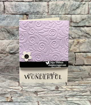 Stampin Up, Stampin' Up! Bloom & Grow stamp set, Swirls and Curls embossing folder, created by Stampin Scrapper, for more cards, gifts, ideas, scrapbooking and 3D projects, go to stampinscrapper.com, Joyce Whitman