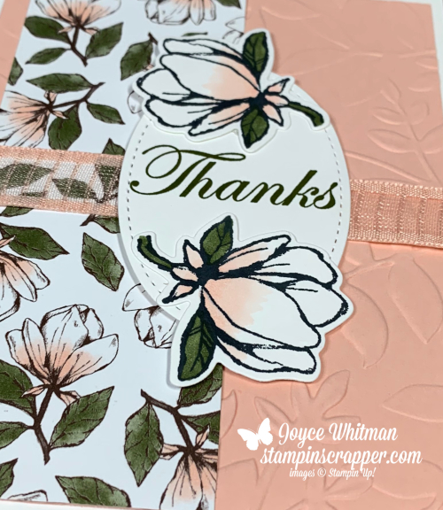 Stampin Up, Stampin' Up! Good Morning Magnolia, Stampin Blends, Thank You, created by Stampin Scrapper, for more cards, gifts, ideas, scrapbooking and 3D projects go to stampinscrapper.com, Joyce Whitman
