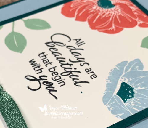 "Stampin Up, Stampin' Up!, Floral Essence, 2019-2020 annual catalog, birthday, 1/4"" Textile Ribbon, created by Stampin Scrapper, for more cards, gifts, ideas, scrapbooking and 3D projects go to stampinscrapper.com, papercrafting, stamping, rubber stamping, handmade, Joyce Whitman"
