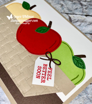 Stampin Up, Stampin' Up!, Harvest Hellos, Apple Builder punch, Stitched Nestled Labels dies, created by Stampin Scrapper, for more cards, gifts, ideas, scrapbooking and 3D projects go to stampinscrapper.com, Joyce Whitman