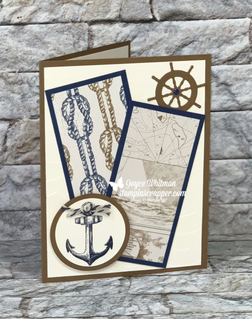 Stampin Up, Stampin' Up!, Sailing Home Stamp Set, Smooth Saiing Dies, High Seas Embossing Folder, Come Sail Away Designer Series Paper, Baker's Twine, card making, paper crafting, stamping, rubber stamping, handmade, created by Stampin Scrapper, for more cards, gifts, ideas, scrapbooking and 3D projects go to stampinscrapper.com, Joyce Whitman