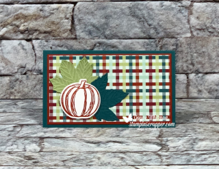 Stampin Up, Stampin' Up!, Come To Gather Suite, Gather Together stamp set, Gathered Leaves dies, come to Gather designer series paper, Pinewood Planks embossing folder,. Stitched Shapes dies, paper crafting, Holiday Extravaganza 2019, 2019 Stampin' Up! holiday catalog, created by Stampin Scrapper, for more cards, gifts, ideas, scrapbooking and 3D projects go to stampinscrapper.com, Joyce Whitman