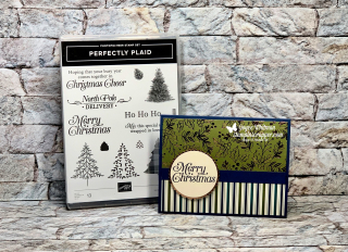 Stampin Up, Stampin' Up!, Perfectly Plaid, Brightly Gleaming designer series paper, 2019 Holiday catalog, created by Stampin Scrapper, for more cards, gifts, ideas, scrapbooking and 3D projects go to stampinscraper13.com, Joyce Whitman