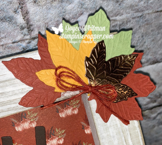 Stampin Up, Stampin' Up! Gather Together stamp set, Come To Gather designer series paper, Gathered Leaves Dies, Gather Together Bundle, Fall Friday 2019, Week #2, Happy Fall Y'all, created by Stampin Scrapper, for more cards, gifts, ideas, scrapbooking and 3D projects go to stampinscrapper.com, Joyce Whitman