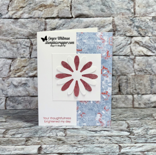 Stampin Up, Stampin' Up! Daisy Delight, Daisy Punch, Woven Threads designer series paper, created by Stampin Scrapper, Joyce Whitman