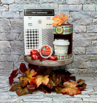 Stampin Up, Stampin' Up!, Gather Together designer series paper, Tiny Keepsakes stamp set, Keurig, Gift Card Holder, Pumpkin Spice, Fall, Starbucks, created by Stampin Scrapper, for more cards, gifts, ideas, scrapbooking and 3D projects, go to stampinscrapper.com, Joyce Whitman