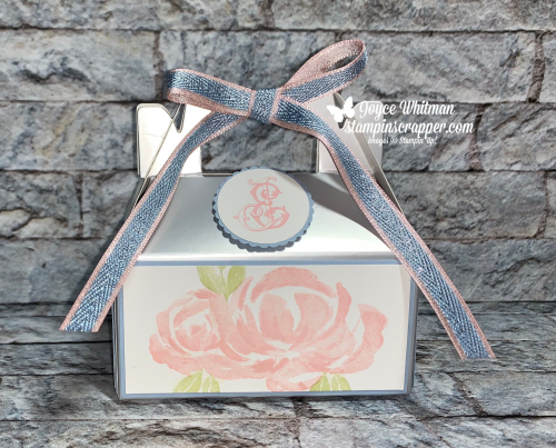 Stampin Up, Stampin' Up! Beautiful Friendship stamp set, Silver Gable Boxes, Metallic Seaside Spray Ribbon, Bridal Shower, created by Stampin Scrapper.  For more cards, gifts, ideas,  scrapbooking and 3D projects go to stampinscrapper.com, Joyce Whitman