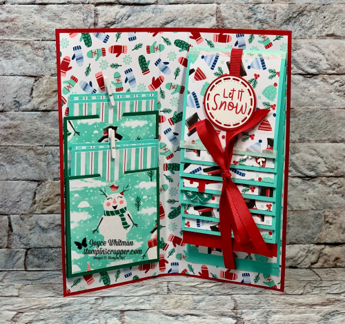 Stampin Up, Stampin' Up!, Merry Christmas Monday, Week #8, Mini Album, Christmas, Let It Snow designer series paper, Snowman Season stamp set,  created by Stampin Scrapper, for more cards, gifts, ideas, scrapbooking and 3D projects go to stampinscrapper.com, Joyce Whitman, http://bit.ly/2POCEP3