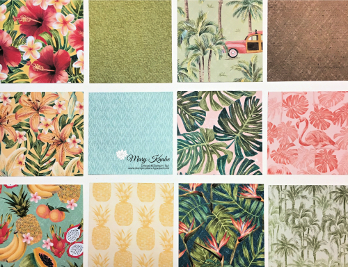 Stampin Up, Stampin' Up! Tropical Oasis Designer Series Paper