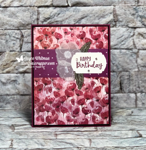 Stampin Up, Stampin' Up!, Painted Poppies stamp set, Painted Labels dies, Peaceful Moments, Poppy Moments dies, Peaceful Poppies designer series paper, Peaceful Poppies Elements, Mini Magazine Holder, Birthday, created by Stampin Scrapper.  For more cards gifts, ideas, scrapbooking and 3D projects go to stampinscrapper.com, Joyce Whitman