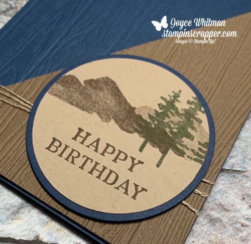 Stampin Up, Stampin' Up!, Perennial Birthday stamp set, Waterfront stamp set, Pinewood Planks embossing folder, created by Stampin Scrapper.  For more cards, gifts, ideas, scrapbooking and 3D projects go to stampinscrapper.com, Joyce Whitman