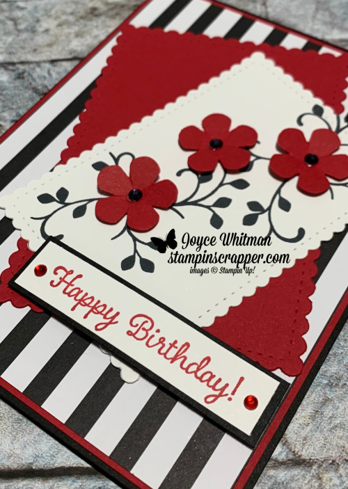 Stampin Up, Stampin' Up!, Thoughtful Blooms stamp set, Sweet Stitched Dies, Tulip Builder punch, Golden Honey designer series paper, created by Stampin Scrapper. For more cards, gifts, ideas, scrapbooking and 3D projects go to stampinscrapper.com, Joyce Whitman