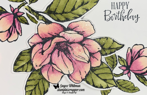 Stampin Up, Stampin' Up!, Good Morning Magnolia stamp set, Magnolia Memory dies, Stampin' Blends, created by Stampin Scrapper.  For more cards, gifts, ideas, scrapbooking and 3D projects go to stampinscrapper.com, Joyce Whitman