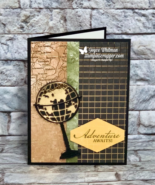 Stampin Up, Stampin' Up!, Beautiful World Bundle, Beautiful World stamp set, World Map dies, World of Good specialty designer series paper, brass foil sheets, World of Good suite, created by Stampin Scrapper.  For more cards, gifts, ideas, scrapbooking and 3D projects go to stampinscrapper.com, Joyce Whitman