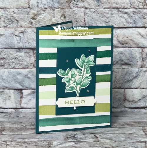 Stampin Up, Stampin' Up!, Forever Fern stamp set, Forever Flourishing dies, Forever Fern Bundle, Forever Greenery designer series paper, Stitched Rectangle dies, Lovely Labels Pick A Punch, created by Stampin Scrapper.  For more cards, gifts, ideas, scrapbooking and 3D projects go to stampinscrapper.com, Joyce Whitman