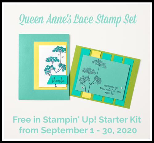 Stampin Up, Stampin' Up!, Queen Anne's Lace stamp set,Way to kick off September Stampin' Up!, Get & Go Starter Kit Promotion, Stampin' Cut and Emboss Machine, Magnetic Cutting Plate, Stampin Scrapper.  For more cards, gifts, ideas, scrapbooking and 3D projects go to stampinscrapper.com, Joyce Whitman