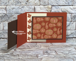 Stampin Up, Stampin' Up!, Banner Year, Gather Together, Gathered Leaves dies, Layering Oval, Stitched Rectangle, Autumn Punch Pack, Banners Pick A Punch, Banner Triple punch, Old World Paper embossing folder, created by Stampin Scrapper.  For more, cards, gifts, ideas, scrapbooking and 3D projects go to stampinscrapper.com, Joyce Whitman