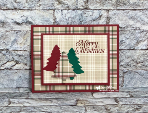 Stampin Up, Stampin' Up!, Christmas Gift Card Holders, Facebook Live, Perfectly Plaid stamp set, Warm Hugs stamp set, Layering Circle Dies, Tasteful Textile embossing folder, Everyday Labels punch, Pine Trees punch, So Many Snowflake dies, Winter Snow embossing folder.  Created by Stampin Scrapper.  For more cards, gifts, ideas, scrapbooking and 3D projects go to stampinscrapper.com, Joyce Whitman