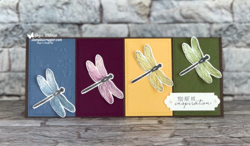 Stampin Up, Stampin' Up!, Dragonfly Garden bundle, Dragonfly Garden stamp set, Dragonflies and Lovely Labels Pick A Punch, created by Stampin Scrapper.  For more cards, gifts, ideas, scrapbooking, and 3D projects go to stampinscrapper.com. Joyce Whitman