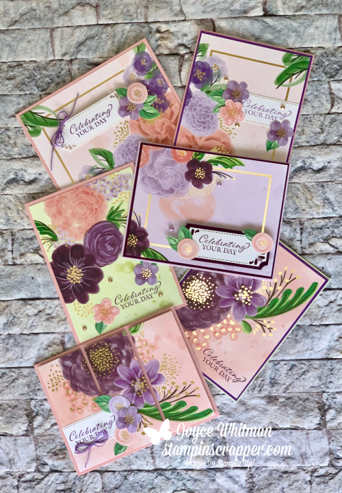 Stampin Up, Stampin' Up!, Gorgeous Posies Project Kit, Gorgeous Posies stamp set, gift box, birthday cards, get well cards, sympathy cards, thinking of you cards, friendship cards, gift box, created by Stampin Scrapper.  For more cards, gifts, ideas, scrapbooking, 3D projects and more go to stampinscrapper.com, Joyce Whitman