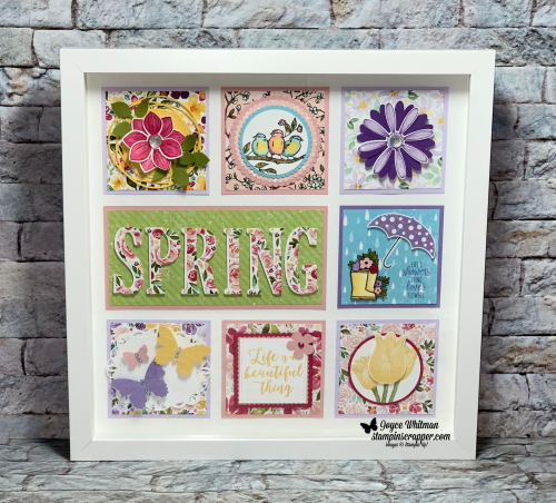 Stampin Up, Stampin' Up!, Spring Shadow Box, created by Stampin Scrapper.  For more cards, gifts, ideas, scrapbooking and 3D projects, go to stampinscrapper.com, Joyce Whitman