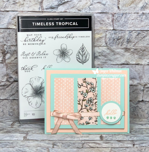 Stampin Up, Stampin' Up!, Timeless Tropical stamp set, Bird Ballad designer series paper, created by Stampin Scrappper, for more cards, gifts, ideas, scrapbooking and 3D projects, go to stampinscrapper.com, Joyce Whitman