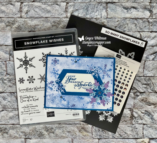 Stampin Up, Stampin' Up!, New At SU, Snowflake Splendor Suite, 2020 August - December Mini Catalog (Holiday), Snowflake Wishes Bundle, Snowflake Wishes stamp set, So Many Snowflakes dies, Snowflake Splendor designer series paper, created by Stampin Scrapper.  For more cards, gifts, ideas, scrapbooking and 3D projects go to stampinscrapper.com, Joyce Whitman