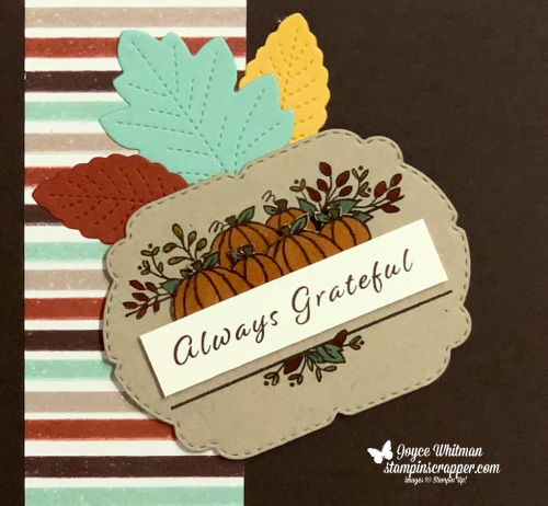 Stampin Up, Stampin' Up!, New At SU - Celebration Tidings Bundle, Celebration Tidings stamp set, Celebration Labels dies, Scrapbook Page, Fall, Autumn, created by Stampin Scrapper.  For more cards, gifts, ideas, scrapbooking and 3D projects go to stampinscrapper.com, Joyce Whitman