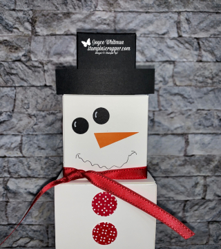 Stampin Up, Stampin' Up!, Merry Christmas Monday 2020 Week #3, Snowman, Box Snowman, created by Stampin Scrapper, for more cards, gifts, ideas, scrapbooking and 3D projects go to stampinscrapper.com, Joyce Whitman